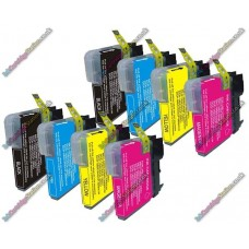 2 Set of Premium Quality Brother LC1100 / LC980 Compatible Multipack Ink Cartridges