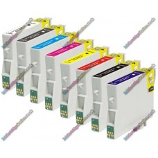 1 Set of Premium Quality T0540 -> T0549 Compatible Multipack Ink Cartridges for Epson