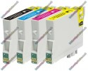 1 Set of Premium Quality T0615 Compatible Multipack Ink Cartridges for Epson - T0611->T0614